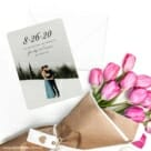 Simply Smitten Save The Date Cards With Envelope