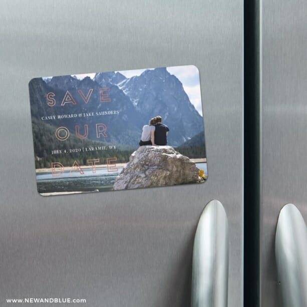 Eloquent Expression 4 Refrigerator Save The Date Magnets