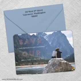 Eloquent Expression 3 Save The Date With Optional Color Envelope