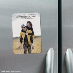 Just A Reminder 3 Refrigerator Foil Save The Date Magnets