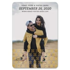 Just A Reminder 1 Save The Date Foil Magnets