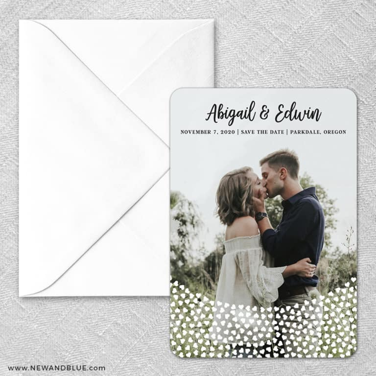 Bursting Hearts Classic Save The Date Magnet