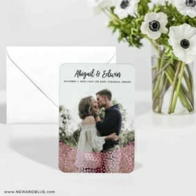 Bursting Hearts 5 Wedding Save The Date Foil Magnets With Envelope