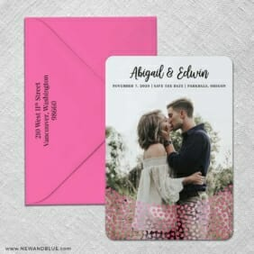 Bursting Hearts 2 Foil Save The Date With Optional Color Envelope