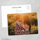 Follow Your Heart Save The Date Wedding Postcard Front And Back