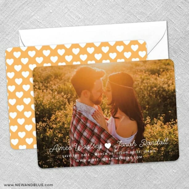 Follow Your Heart Save The Date Wedding Card