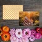 Follow Your Heart Save The Date Card With Back Printing