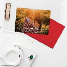 Follow Your Heart Save The Date Cards And Optional Color Envelopes
