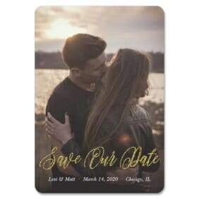 Together Forever 1 Save The Date Foil Magnets
