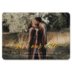 Scripted Romance Magnet Gold Foil