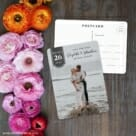 Badge Of Love Save The Date Postcard With Back