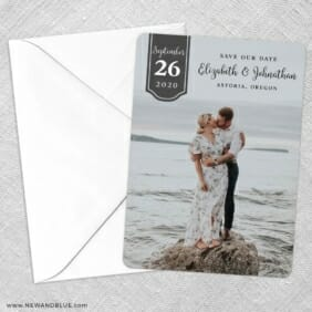 Badge Of Love Save The Date Party Card