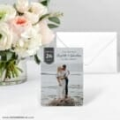 Badge Of Love Save The Date Card With Envelope