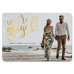 Engaged Magnet Gold Foil