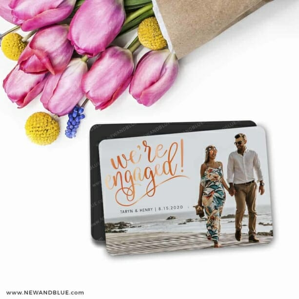 Engaged 7 Wedding Save The Date Magnets