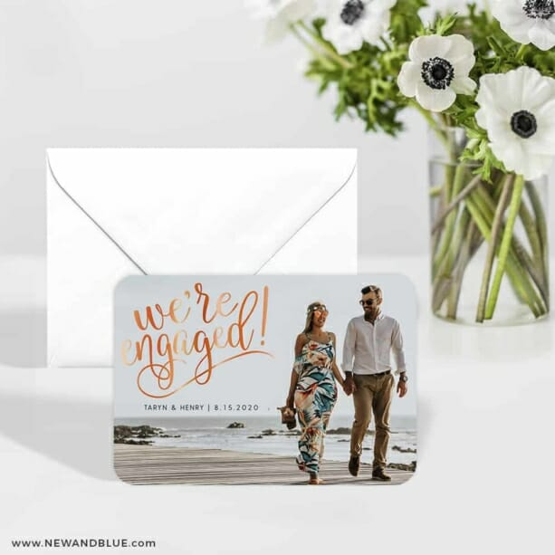 Engaged 6 Wedding Save The Date Magnets