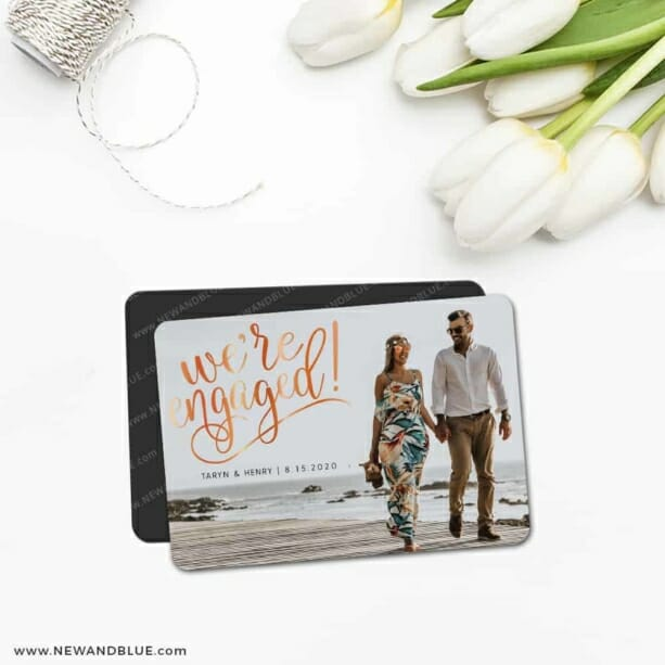 Engaged 5 Save The Date Magnet