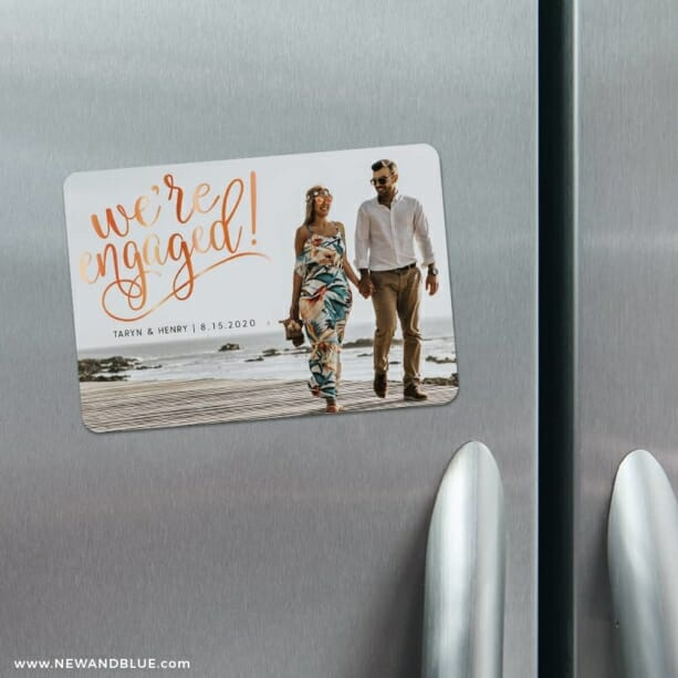 Engaged 5 Refrigerator Save The Date Magnets