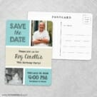 Then Now Save The Date Wedding Postcard Front And Back