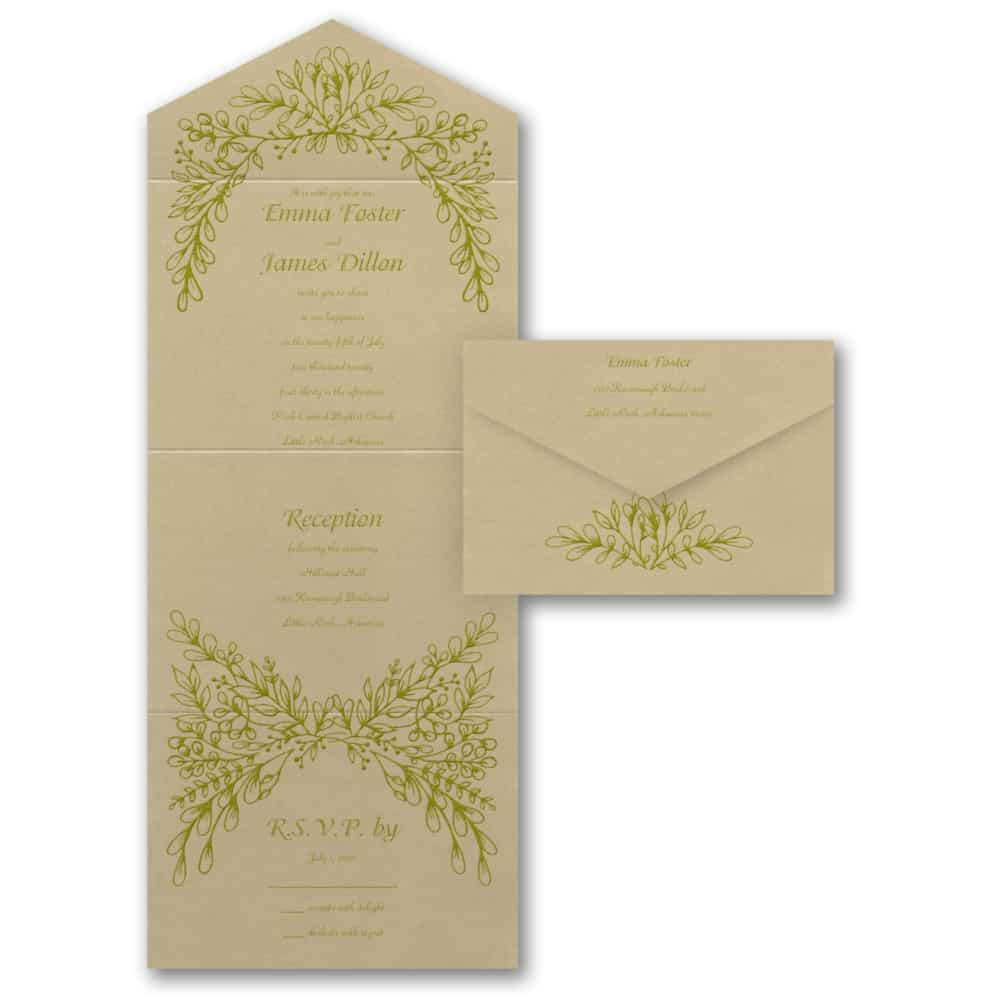 Seal And Send Wedding Invitations.Artistic Vines