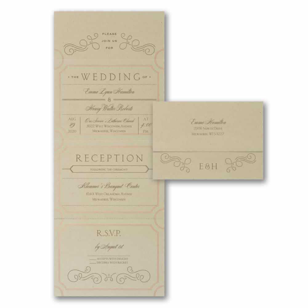 Seal And Send Wedding Invitations.Extravagantly Classic Design