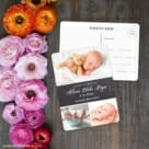 Union Square Baby NB Save The Date Postcard With Back