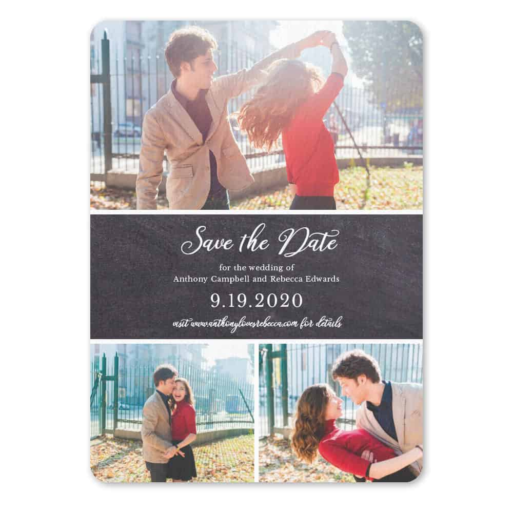 Union Square Wedding NB Save The Date With Envelope In Color Black