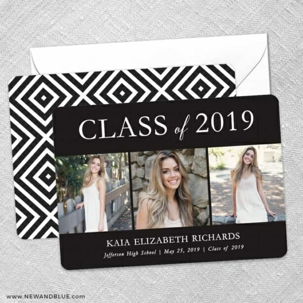 Graduation Collage NB Save The Date Wedding Card