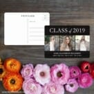 Graduation Collage NB Save The Date Postcard With Back