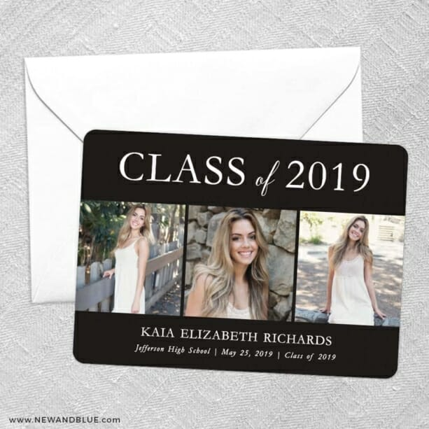 Graduation Collage NB Save The Date Party Card