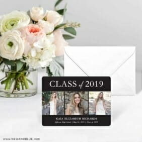Graduation Collage NB Save The Date Card With Envelope