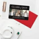 Graduation Collage NB Save The Date Cards And Optional Color Envelopes