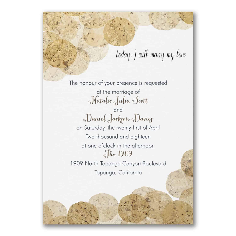 Cork Wedding Invitations: Wedding Invitations