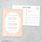 Quartz NB Save The Date Wedding Postcard Front And Back