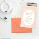 Quartz NB Save The Date Cards And Optional Color Envelopes