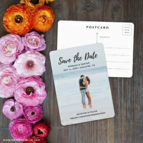 Endless Love NB Save The Date Postcard With Back