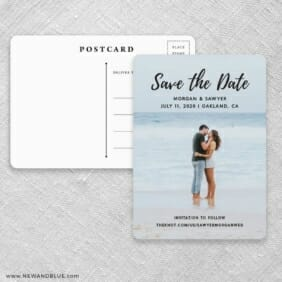 Endless Love NB Save The Date Postcards Front And Back