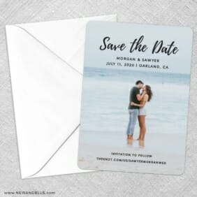 Endless Love NB Save The Date Party Card