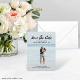 Endless Love NB Save The Date Card With Envelope