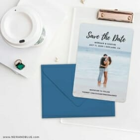 Endless Love NB Save The Date Cards And Optional Color Envelopes
