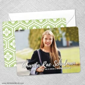 Bellevue Bat Mitzvah NB Save The Date Wedding Card