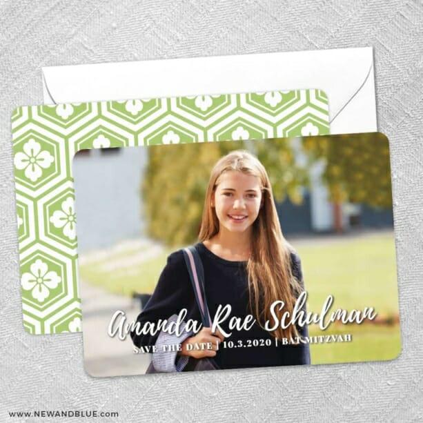 Bellevue Bat Mitzvah NB Save The Date Wedding Card