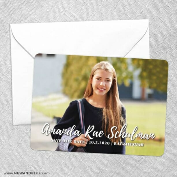 Bellevue Bat Mitzvah NB Save The Date Party Card