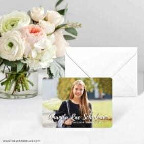 Bellevue Bat Mitzvah NB Save The Date Card With Envelope