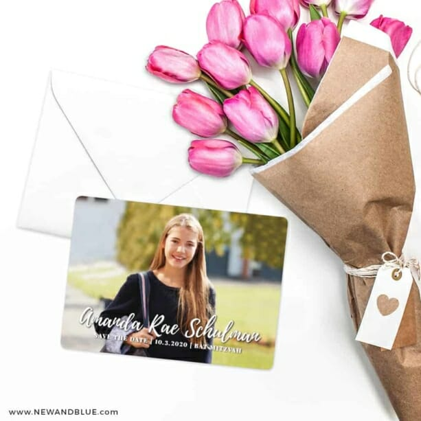 Bellevue Bat Mitzvah NB Save The Date Cards With Envelope
