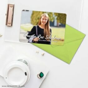 Bellevue Bat Mitzvah NB Save The Date Cards And Optional Color Envelopes