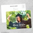 Bellevue Graduation NB Save The Date Wedding Postcard Front And Back