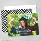 Bellevue Graduation NB Save The Date Wedding Card