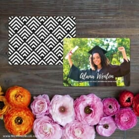 Bellevue Graduation NB Save The Date Card With Back Printing
