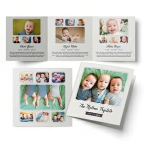 Three Times The Fun Triplet Baby Announcement